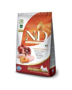 Farmina Natural & Delicious Pumpkin Canine Adult Mini Dog Food Formula - Chicken and Pomegranate