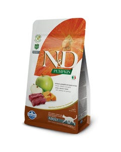 Farmina Natural & Delicious Pumpkin Feline Adult Cat Food Formula - Venison and Apples