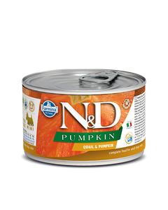 Farmina N&D Pumpkin Adult Mini Wet Food for Dogs - Quail & Pumpkin