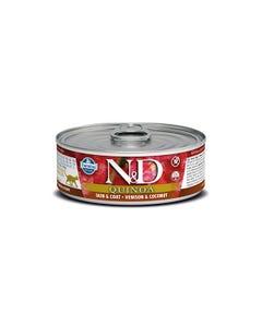 Farmina N&D Quinoa Functional Feline Wet Food - Skin & Coat Venison