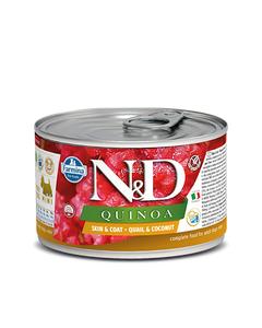 Farmina N&D Quinoa Functional Canine Mini Wet Food - Skin & Coat Quail
