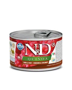 Farmina N&D Quinoa Functional Mini Canine Wet Food - Skin & Coat Venison