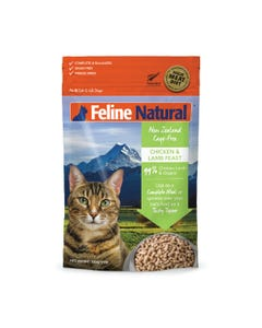 Feline Natural Raw Freeze Dried Chicken & Lamb Feast