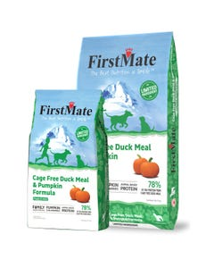 FirstMate Cage Free Duck Meal & Pumpkin Formula