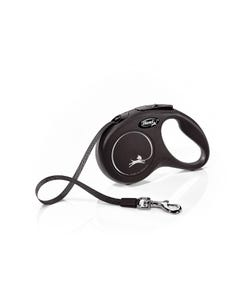 Flexi Classic Compact Retractable Tape Leash - Black