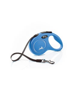 Flexi Classic Compact Retractable Tape Leash - Blue