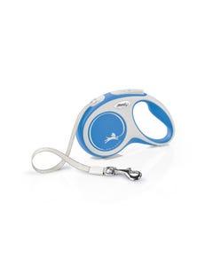 Flexi Comfort Retractable Tape Leash - Blue - Smaller Sizes