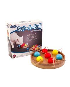 Flipo Brainiac Bat-A-Ball Interactive Pet Toy with Box
