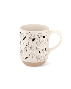 Fringe Petshop Nosey Dog Spot Stoneware Mug