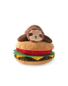 Fringe Petshop Sloth on a Hamburger Dog Toy