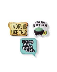 Fringe Petshop Trendy Text Mini Toys