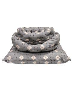 Fringe Petshop Gray Tribal Dog Bed