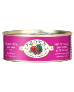 Fromm Four-Star Nutritional Food for Cats - Chicken, Duck & Salmon Pâté