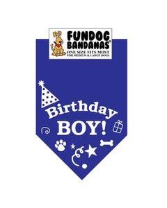 FunDog Birthday Boy Bandana