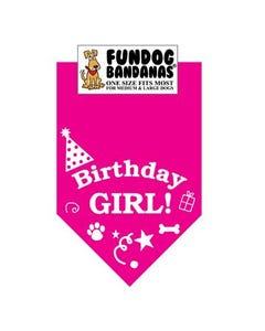 FunDog Birthday Girl Bandana