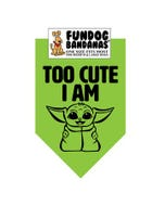 FunDog Too Cute I Am (Baby Yoda) Bandana