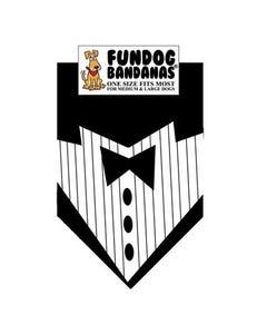 FunDog Tuxedo With Black Tie Bandana