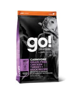 Go! Solutions Carnivore Grain Free Chicken, Turkey + Duck Senior Dog Food
