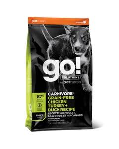Go! Solutions Carnivore Grain Free Chicken, Turkey + Duck Puppy Recipe