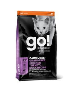 Go! Solutions Carnivore Grain Free Chicken, Turkey + Duck Cat Recipe