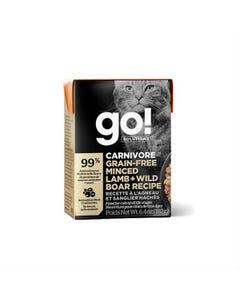 Go! Solutions Carnivore Grain Free Tetra Packs for Cats - Minced Lamb + Wild Boar Recipe
