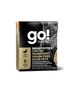 Go! Solutions Sensitivities Limited Ingredient Tetra Packs for Dogs - Grain-Free Duck Pâté
