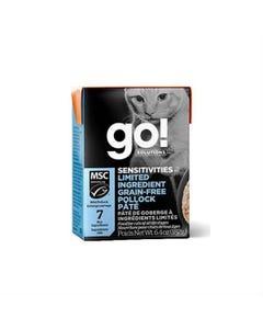 Go! Solutions Sensitivities Limited Ingredient Tetra Packs for Cats - Grain-Free Pollock Pâté