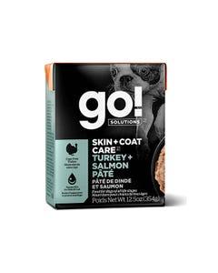 Go! Solutions Skin + Coat Care Tetra Packs for Dogs - Turkey + Salmon Pâté