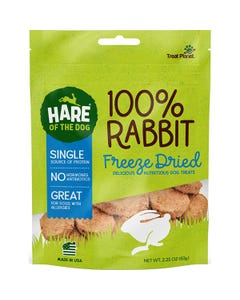Hare of the Dog 100% Freeze Dried Rabbit Treats for Dogs