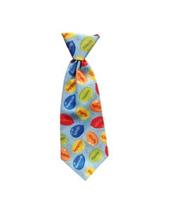 Huxley & Kent Party Tie Long Tie in Blue for Dogs