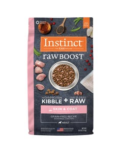Instinct Raw Boost Grain-Free Recipe with Real Chicken for Skin & Coat Dog Food