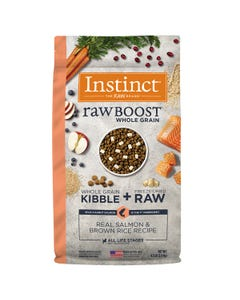 Instinct Raw Boost Whole Grain Recipe with Real Salmon & Brown Rice