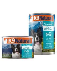 K9 Natural Hoki & Beef Feast Canned Dog Food - Set