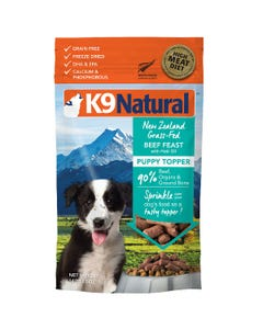 K9 Natural Hoki & Beef Feast Topper for Puppies