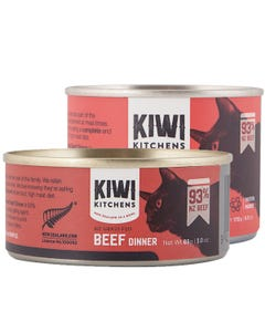 Kiwi Kitchens NZ Grass Fed Beef Dinner Canned Wet Food for Cats