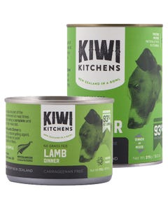 Kiwi Kitchens NZ Grass Fed Lamb Dinner Canned Wet Food for Dogs