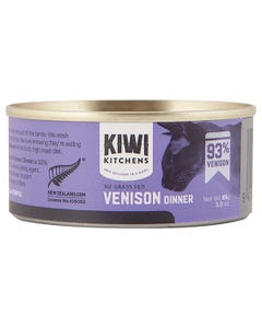 Kiwi Kitchens NZ Grass Fed Venison Dinner Canned Wet Food for Cats