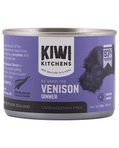 Kiwi Kitchens NZ Grass Fed Venison Dinner Canned Wet Food for Dogs