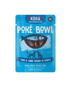 KOHA Poké Bowl Pouched Wet Food for Cats - Tuna & Lamb Entrée in Gravy