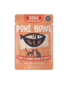 KOHA Poké Bowl Pouched Wet Food for Cats - Tuna & Salmon Entrée in Gravy