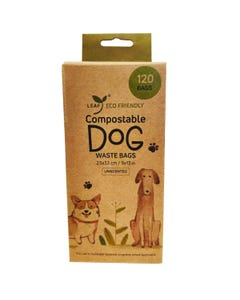 Leaf Unscented Compostable Dog Waste Bags - 120 Bags