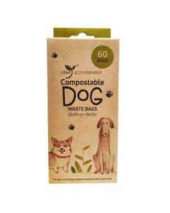 Leaf Unscented Compostable Dog Waste Bags - 60 Bags