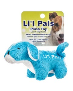 Lil Pals Plush Blue and White Dog Toy