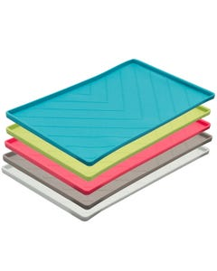 Messy Mutts Silicone Food Mat with Metal Rods