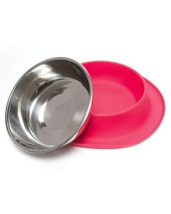Messy Mutts Single Silicone Feeder for Dogs - Red