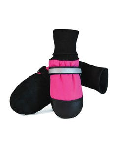 Muttluks Fleece-Lined Dog Boots - Pink