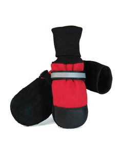 Muttluks Fleece-Lined Dog Boots - Red