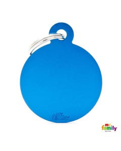 My Family Pet Friends Tag - Classic Blue Circle Tag