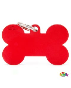 My Family Pet Friends Tag - Basic Red Bone in Aluminum