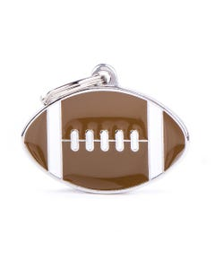 My Family Pet Charm Tag - Large American Football